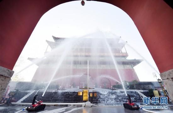 北京市东城区举行文物古建灭火救援综合应急演练