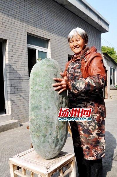 扬州一老汉种出50斤大冬瓜 准备留种免费送给菜农