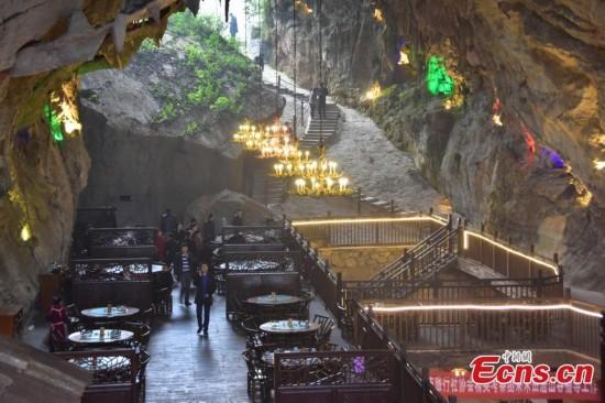 Dine deep underground in a cave
