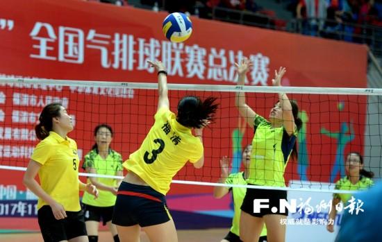 全国气排球联赛总决赛在福州福清举行 80支队伍参赛