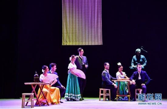 (文化)(2)西班牙弗拉明戈舞剧《卡门》在郑州上演