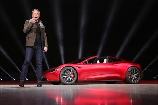 特斯拉发布全新Roadster跑车 是加速最快的车型