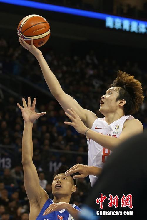 2019篮球世界杯亚洲预选赛 中国队取得开门红