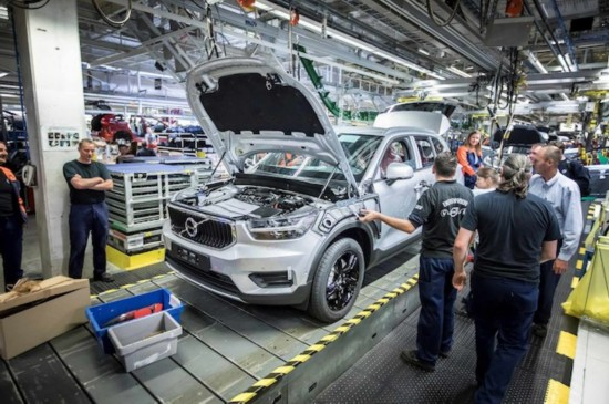 沃尔沃XC40在比利时正式投产 定于明年上市