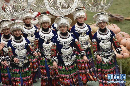 贵州雷山:苗族同胞喜迎苗年