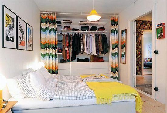 巧借小卧室划出衣帽间 小户型也能拥有豪宅范儿