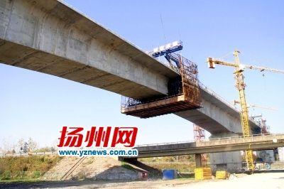 连淮扬镇铁路宝应特大桥连续梁顺利合龙