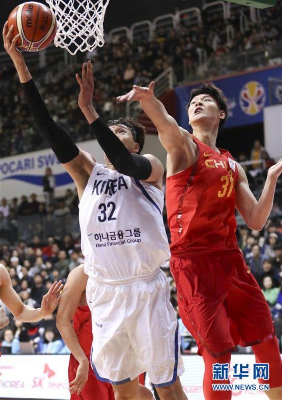 2019年男篮世界杯预选赛:中国战胜韩国