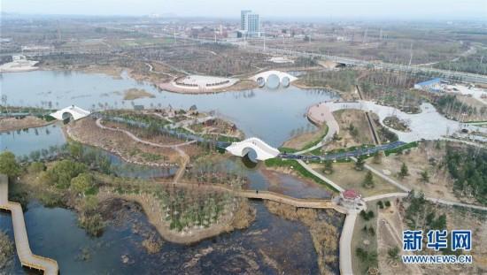 河北邯郸:采煤塌陷地变生态公园