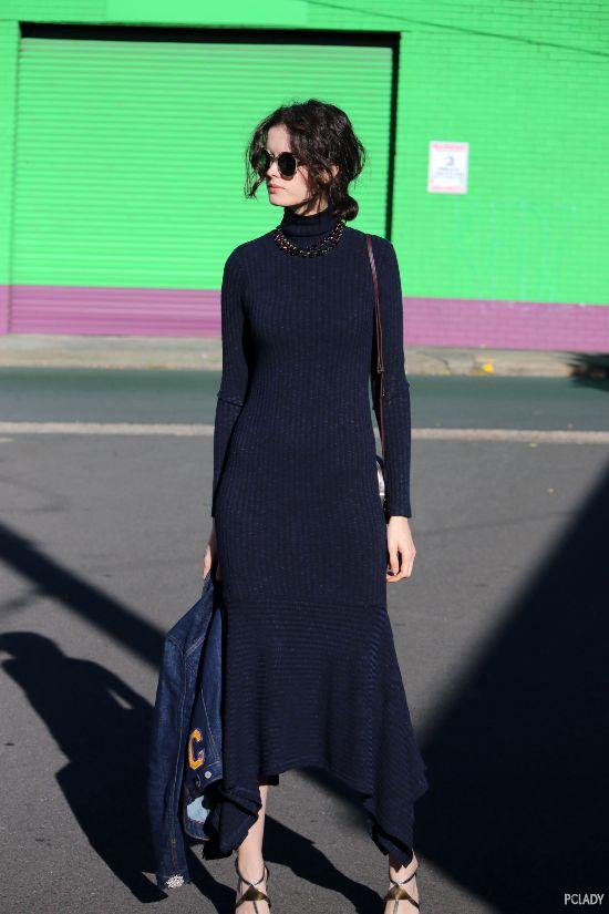 保温保暖保时髦,我只服针织连衣裙!