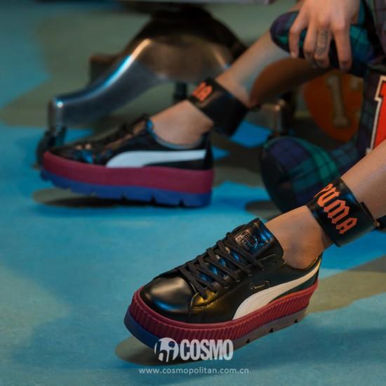 鞋履来自Puma X Fenty 售价190美元 可从http://us.puma.com购买