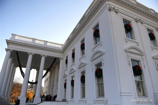 Media preview of 2017 Christmas holiday decorations held at White House