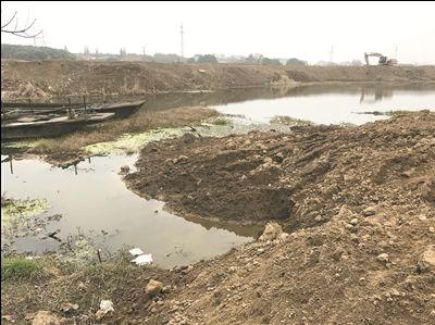 常州宋剑湖30余亩水面被违法填湖复垦