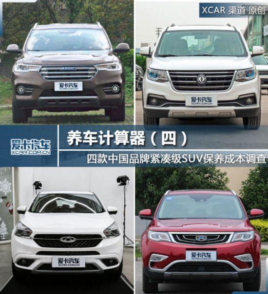 中国品牌SUV保养调查