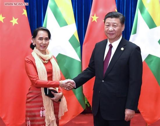 CHINA-MYANMAR-XI JINPING-MEETING (CN)