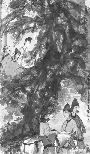 傅抱石创作于1945年的《琵琶行》以1.8亿港元落槌