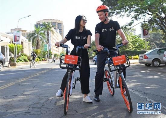 中国共享单车橙色旋风闪现非洲街头