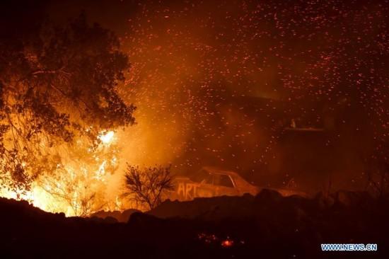 U.S.-SANTA PAULA-WILDFIRE