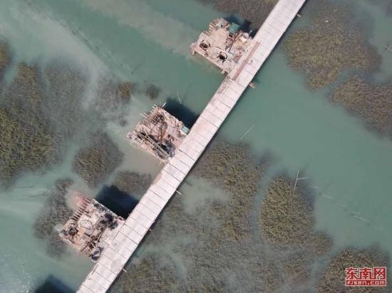 宁德霞浦栈桥飞跨海湾