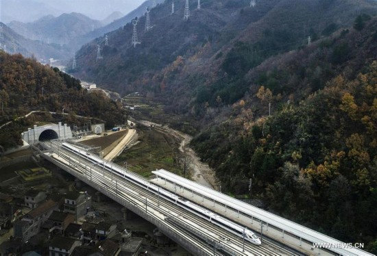 CHINA-XI'AN-CHENGDU RAILWAY-AERIAL VIEW (CN)