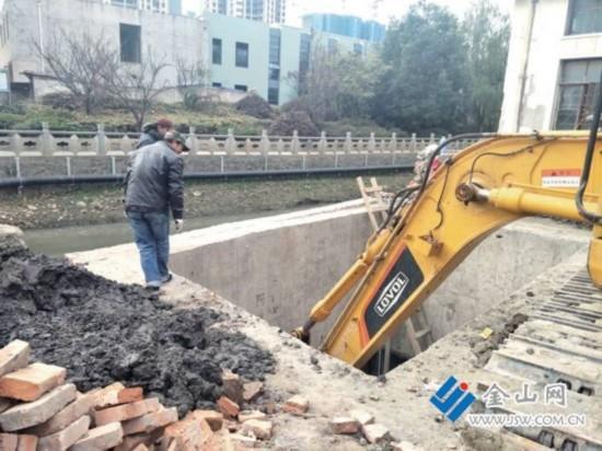 镇江陆角桥改造排水工程启动 争取春运前完工