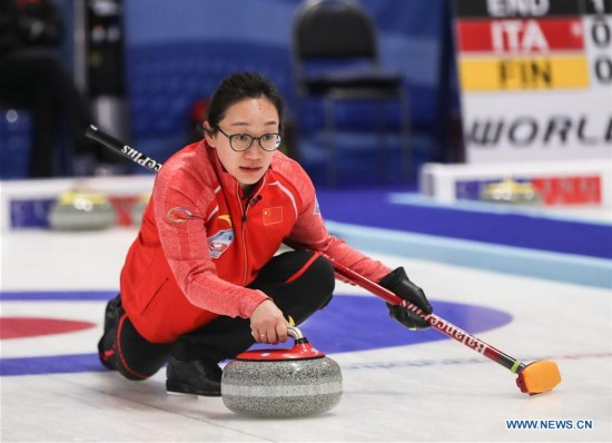 (SP)CZECH REPUBLIC-PILSEN-CURLING-OLYMPIC QUALIFICATION-WOMEN-CHINA VS LATVIA