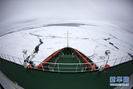 """(第34次南极科考)(1)""""雪龙""""号进入南极"""