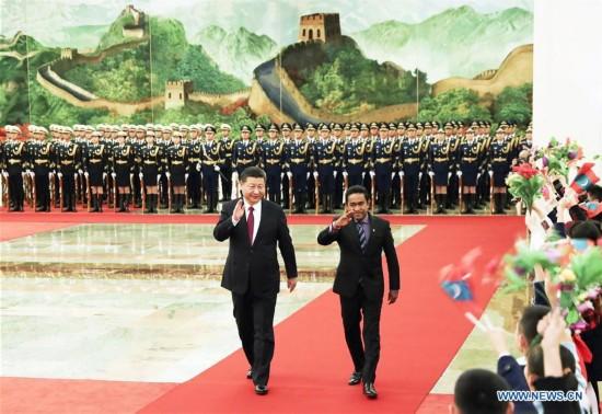 CHINA-BEIJING-XI JINPING-MALDIVES PRESIDENT-TALKS (CN)