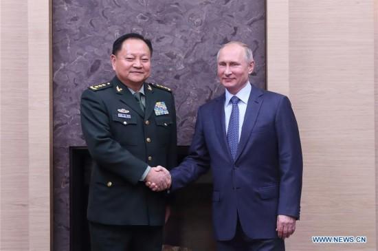 RUSSIA-MOSCOW-PRESIDENT-PUTIN-CHINA-ZHANG YOUXIA-MEETING