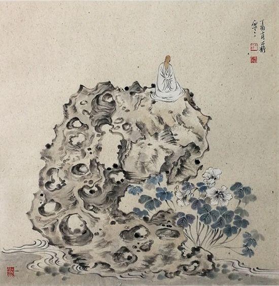酢浆花开 69x69cm 2017年