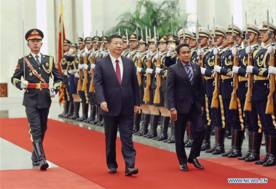 CHINA-BEIJING-XI JINPING-MALDIVES PRESIDENT-TALKS (CN)