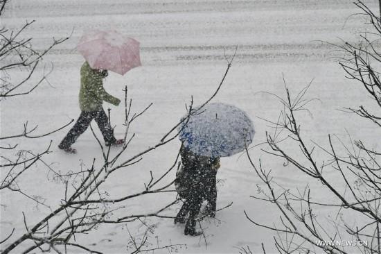 Cold wave brings heavy snowfall to E China's Shandong