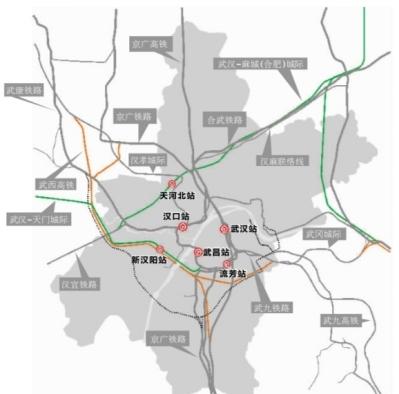 """6座火车站""""四主两辅"""" 13条干线环形放射"""