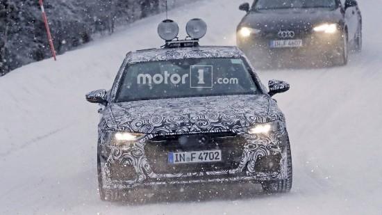 全新奥迪A6冬季测试谍照曝光 尾部轿跑式设计