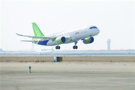 第二架C919国产大飞机首飞成功项目迈入新阶段