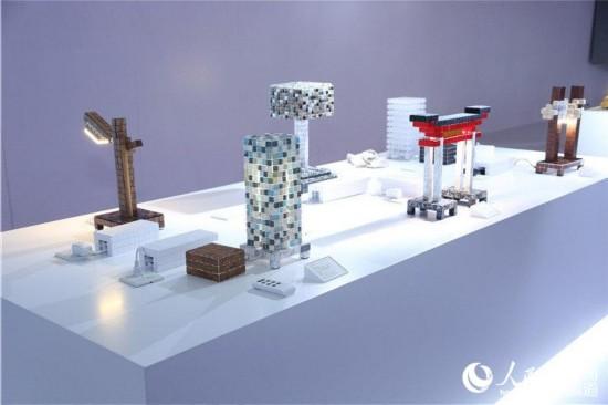 湖南粵港模科模塊拼裝出的各種形狀的燈具
