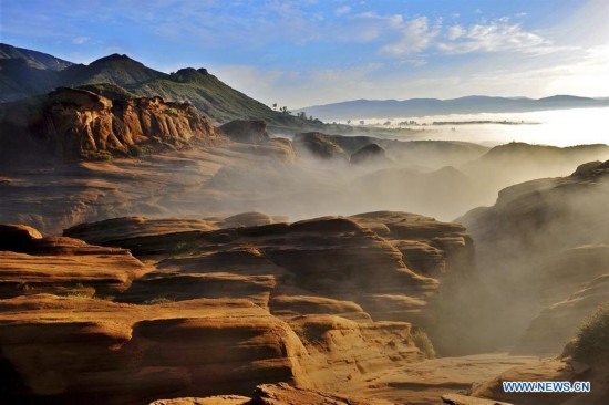In pics: Longzhou Danxia landform in NW China