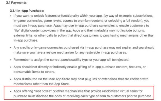 Apple to update the App Store review games draw probability to be announced in advance