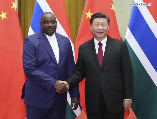 CHINA-BEIJING-XI JINPING-GAMBIA-PRESIDENT-TALKS (CN)