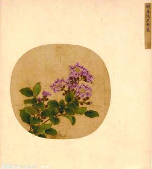 宋 卫升 《写生紫薇》