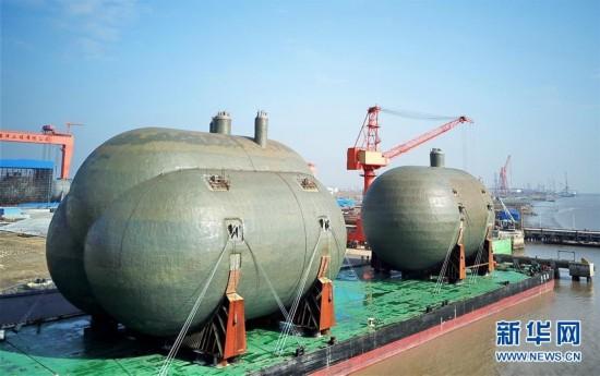 #(经济)(1)超大型船用C型液罐在江苏启东交付