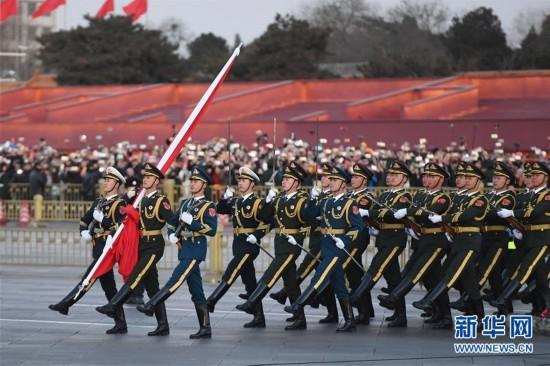 (社会)(2)人民解放军首次执行天安门广场升国旗任务