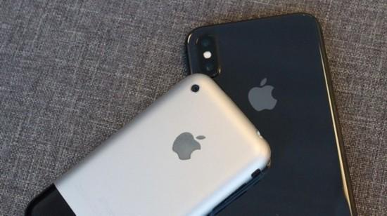 相隔十年的对比:iPhone X VS首代iPhone