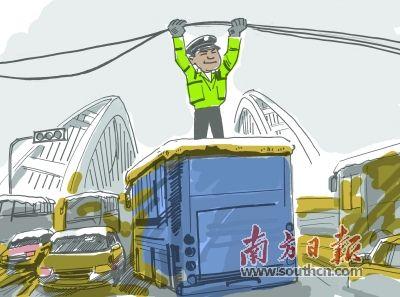 """大雪压城 """"托举哥""""成暖人风景"""