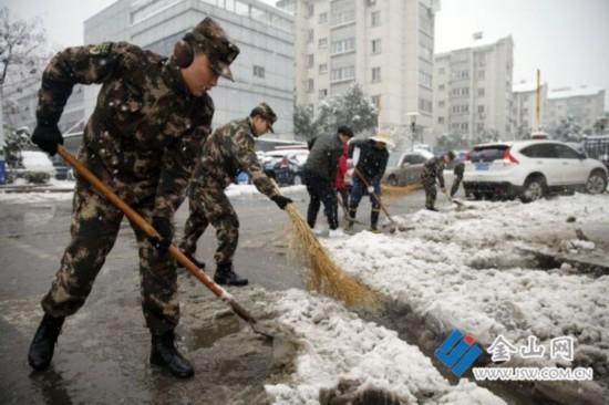 保畅通保安全 镇江积极有序应对暴雪气象灾害