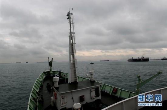 """(科技)(1)""""实验3""""号科考船进入马六甲海峡"""