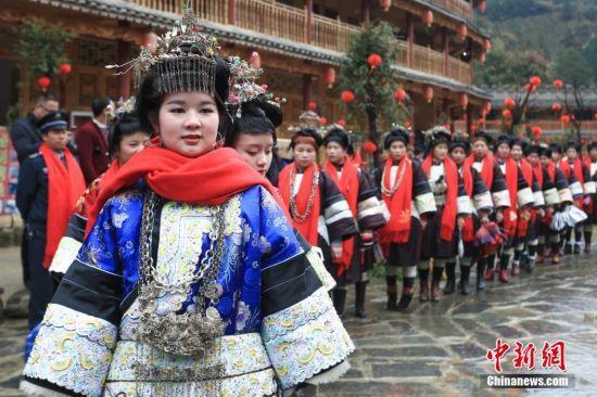 贵州侗族民众盛装过侗年
