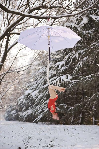 雪天松树简笔画