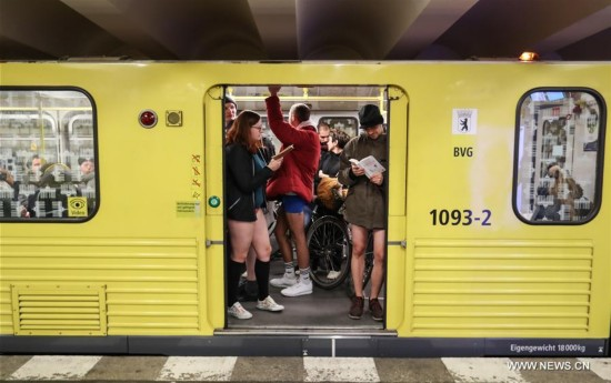 GERMANY-BERLIN-NO PANTS SUBWAY RIDE