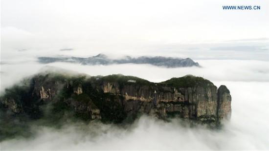 Scenery of Jingxingyan scenic spot in east China